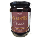 Black Greek Round Olives 410g ANGEL