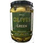 Green Pitted olives 410g ANGEL