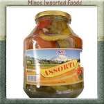 Assorti Salad Mixed pickle 59oz VG Bulgarian