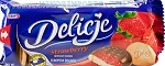 Delicje Strawberry Biscuits 147g kraft Poland