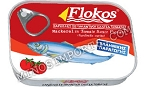 Flokos Mackerel Fillets in Tomato Sauce 195g