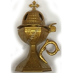 Incense Burner Gold 7.5
