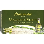 Delamaris Mackerel Fillets in Extra Virgin olive oil 125g