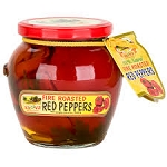 Fire roasted red peppers 19oz VAVA
