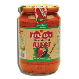 Ajver Vegetable Spread Biljana Makedonski 670g Hot