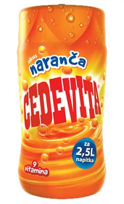 Cedevita Orange Drink Flavor powder mix Makes 2.5L