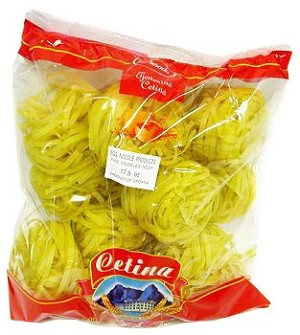 Broad  Egg Noodles 500g By: Cetina