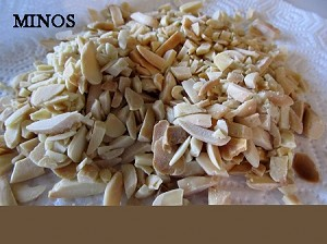 Almonds chopped , Minos Imported 1/2lb