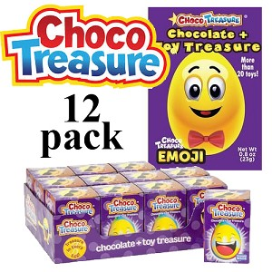 Emoji Choco Treasure Surprise Chocolate Egg 23gx12 eggs