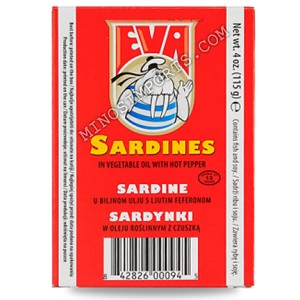 Eva Sardines in Vegetable oil with hot peppers 115g