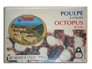 Fantis Octopus in Oil 110g can Imported from Greece