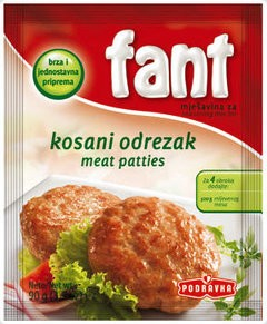 Meat Patties 90g Fant Seasoning By: Podravka