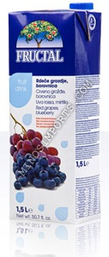 Fructal Red Grape / Blueberry Juice 1.5L