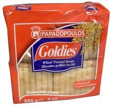 Goldies Toast  Wheat Rusks 225g Papadopoulos
