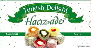 Coconut & Fruits Turkish Delights 454g By: Hacizade