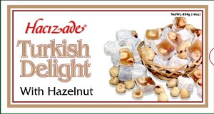 Hazelnuts Turkish Delights 454g By: Hacizade