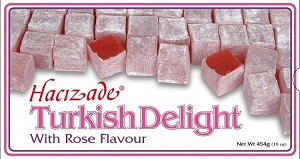 Rose Turkish Delights 454g By: Hacizade