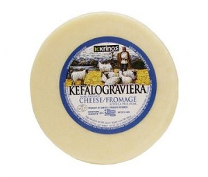 Kefalograviera Greek Cheese 2lb wheel By: Krinos