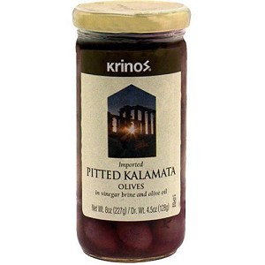 Olives, Kalamata Pitted  8oz Krinos