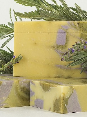 Granny's All Natural Lanvender & Nettle Olive Oil Soap | Imported and Handmade in Greece | 120g Bar