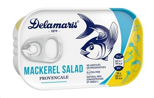 Delamaris Mackerel Salad with Carrots and Cucumbers in Tomato Sauce 125g