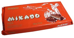Mikado Chocolate with Rice Puffs 225g