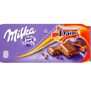 Milka with daim 100g