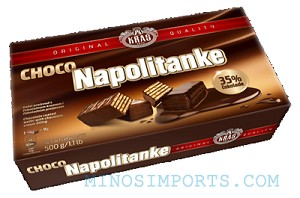 Napolitanke Chocolate Coated Wafers 250g