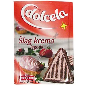 Strawberry Slag krema whipped topping 66g By: Dolcela