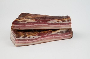 Smoked Pork Bacon aprx 1lb by: Harczak's