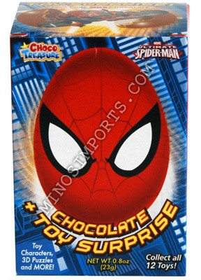 Spiderman Choco Treasure Surprise Chocolate Egg 23g