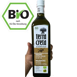 Terra Creta 750ML Organic Extra Virgin Olive Oil By: Kolymvari