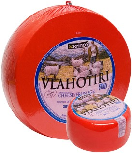 Vlahotiri Greek Yellow Cheese aprox. 1.15 lb By: Krinos