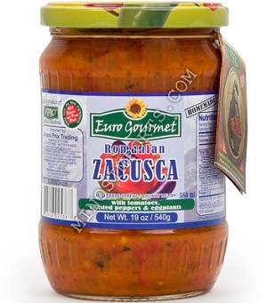 Zacusca Tomatoes Peppers Eggplant 19oz Romania